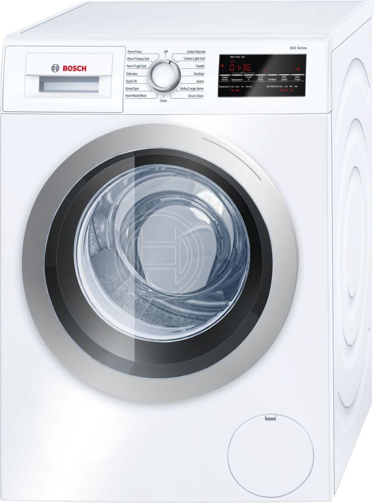"Bosch 24"" Compact Washer, WAT28401UC, White/Silver"