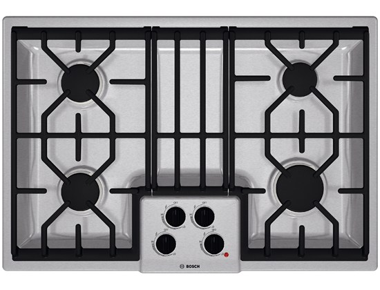 "Model: NGM5054UC-Outlet | Bosch 30"" Gas Cooktop 500 Series - Stainless Steel"