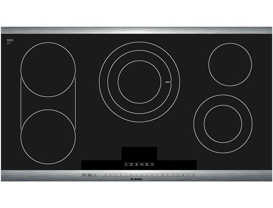 36 Stainless Steel Electric Cooktop with SteelTouchTM Control and AutoChef 800 Series - Black and Stainless Steel