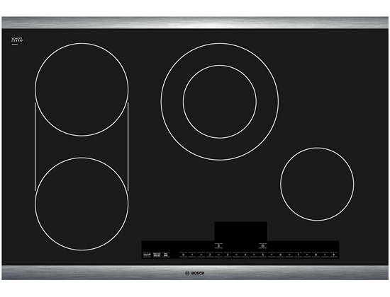 30 Stainless Steel Electric Cooktop with Touch Control 500 Series - Black and Stainless Steel