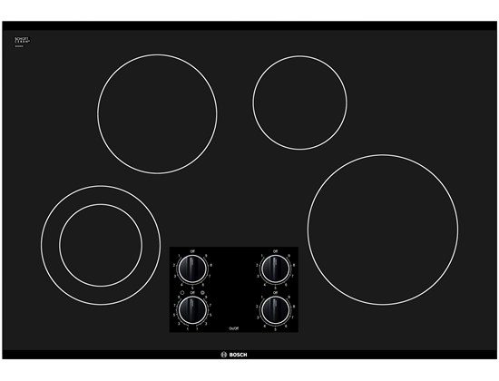 30 Black Electric Cooktop 300 Series - Black