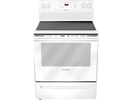 "Bosch 30"" Electric Freestanding Range 300 Series - White"