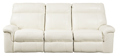 Ashley PWR REC Sofa with ADJ Headrest