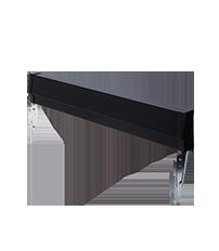Black Slide-In Range Adjustable Metal Backguard