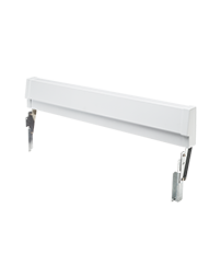 White Slide-In Range Adjustable Metal Backguard