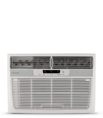 8,000 BTU Window-Mounted Room Air Conditioner with Supplemental Heat