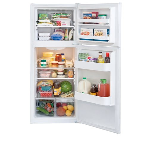 Frigidaire - FFET1022QW - 9.9 Cu. Ft. Top Freezer Apartment-Size ...