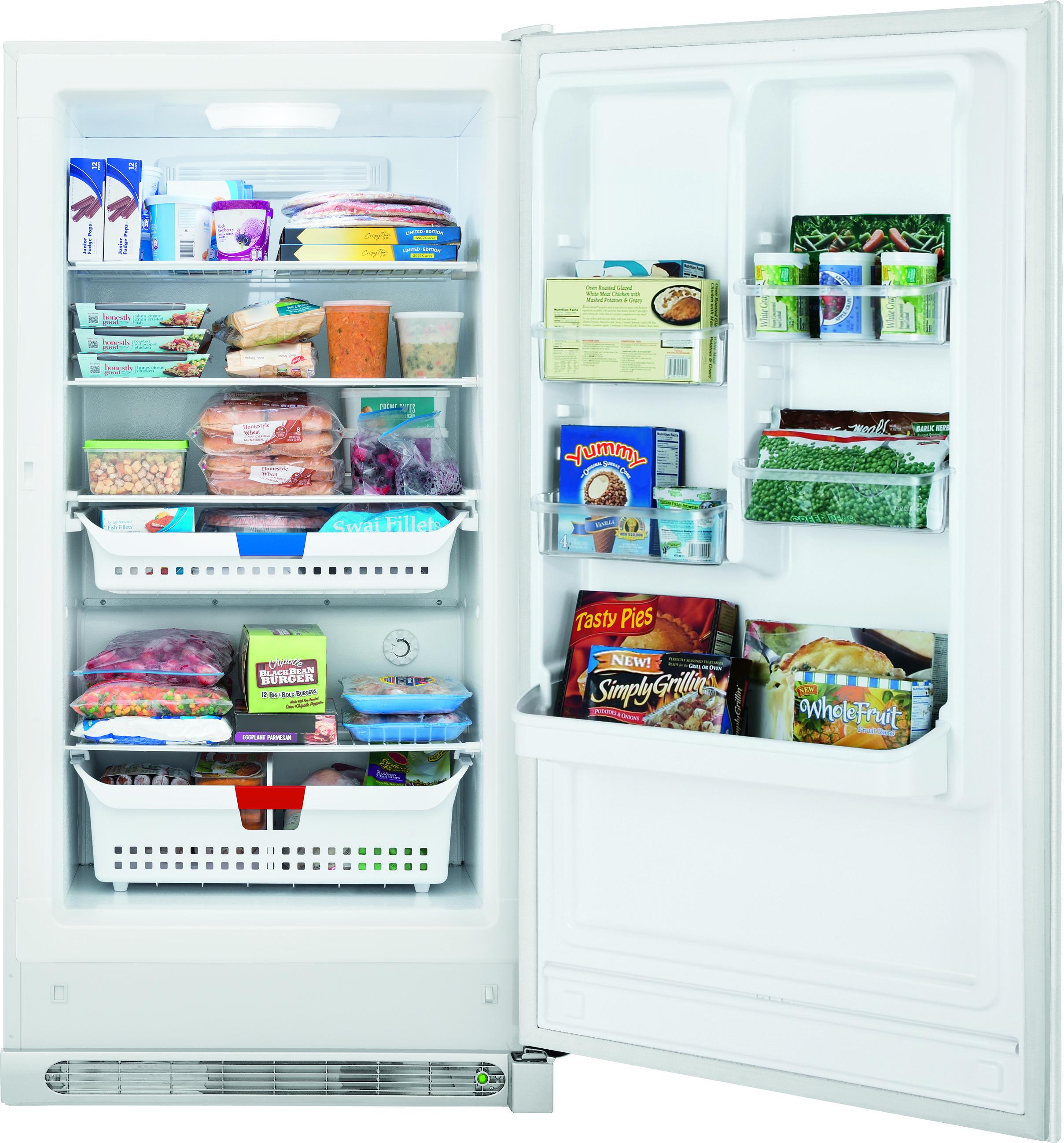 Frigidaire - FFVU17F4QW - 16.6 Cu. Ft. 2-in-1 Upright Freezer or ...