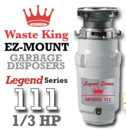 Legend 111 Legend Series Garbage Disposer 1/3 HP