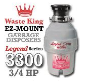 Legend 3300 Legend Series Garbage Disposer 3/4 HP
