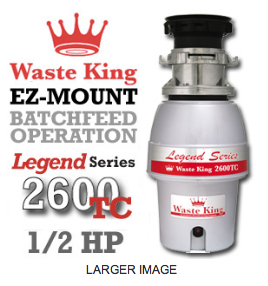 Legend 2600TC Legend Series Garbage Disposer
