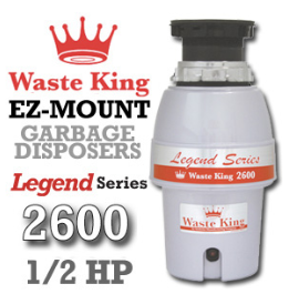 Legend 2600 Legend Series Garbage Disposer