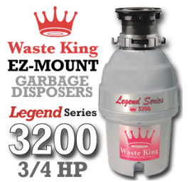 Legend 3200 Legend Series Garbage Disposer 3/4 HP