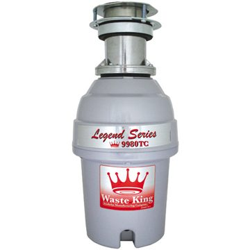 Waste King Garbage Disposer - 9980tc 1 hp Legend Series Disposal - Batchfeed