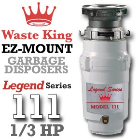 Waste King Garbage Disposal - 111    1/3 HP Legend Series Garbage Disposer