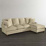Model: 8000-RCSECTT | Bassett Custom Upholstery Small Right Chaise Sectional