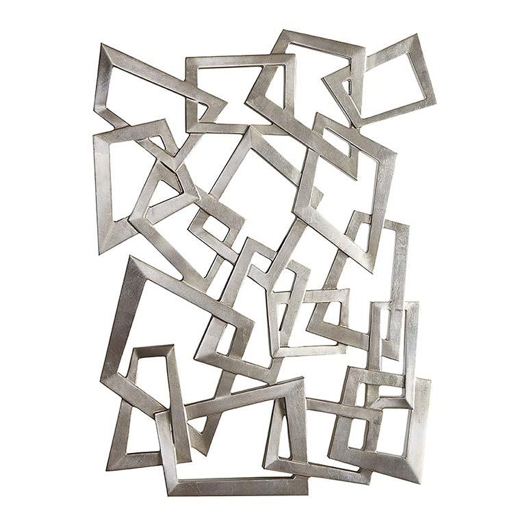 Bassett Silver Sculpture Wall Hanging