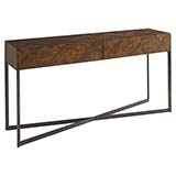 Bassett Hand Pieced Parquet Console Table