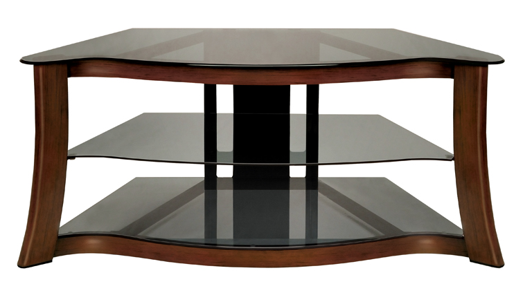 Bell'O Audio/Video Furniture With Hand-painted Dark Cherry Finish