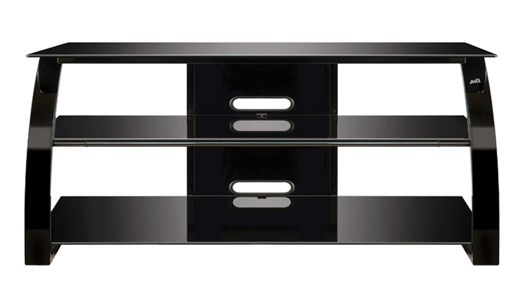 Bell'O High Gloss Black Finish Flat Panel Audio/Video Furniture