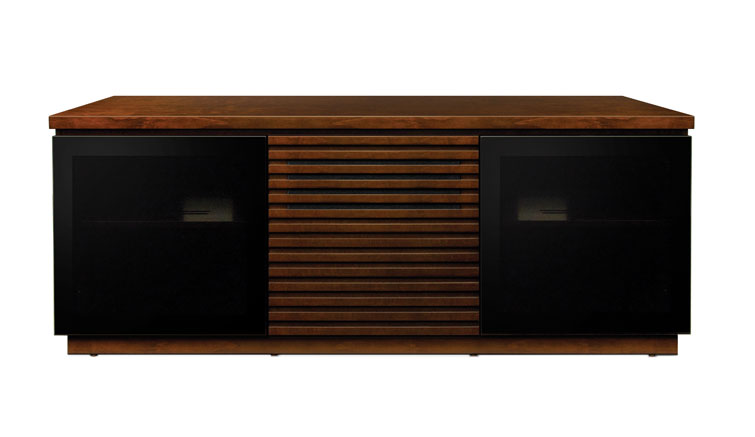 Contemporary Espresso Finish Wood Home Entertainment Cabinet