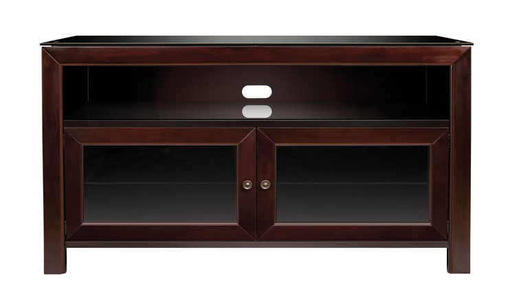Deep Mahogany Finish Wood A/V Cabinet