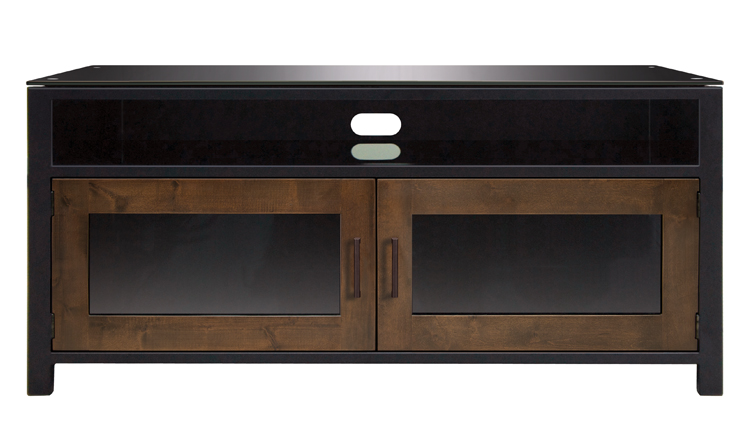 Cocoa/Matte Black Finish Wood A/V Cabinet