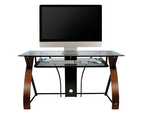 Model: CD8841 | Bell'O Computer Desk With Curved Wood Sides