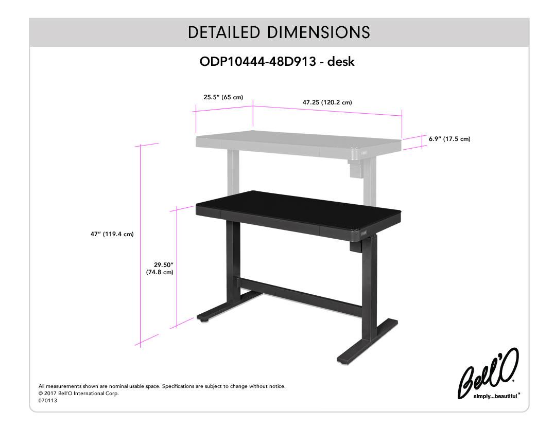 Model: ODP10444-48D913   Bell'O DESK