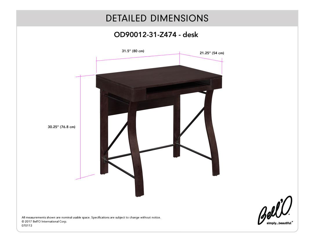 Model: OD90012-31-Z474 | Bell'O DESK