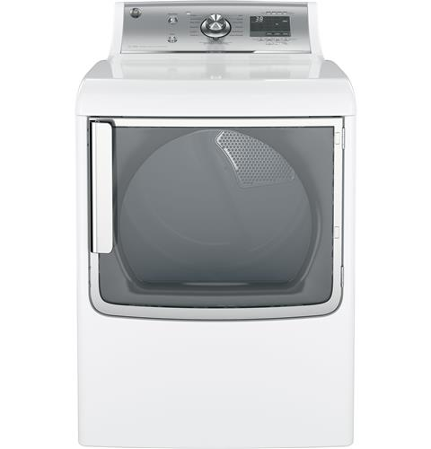 GE 7.8 cu. ft. capacity electric dryer with stainless steel drum and steam