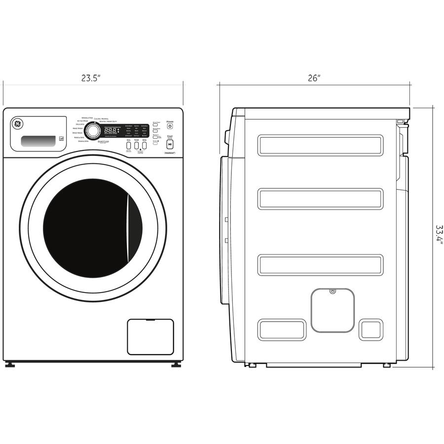 GE - WCVH4800KWW - GE® 2.2 DOE cu. ft. Front Load Washer Wiring Diagram Ge Washer Wcvh Kww on