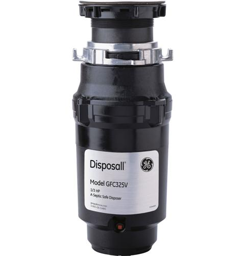 GE 1/3 HP Continuous Feed Garbage Disposer - Corded