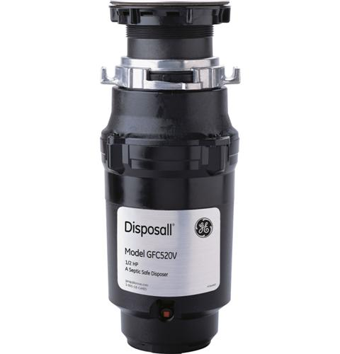 GE 1/2 HP Continuous Feed Garbage Disposer - Non-Corded