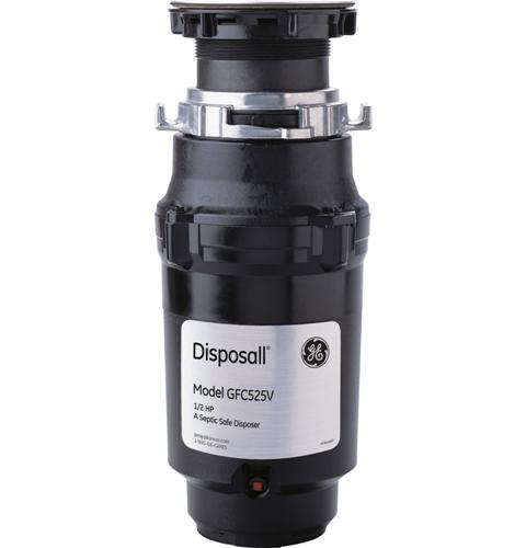GE 1/2 HP Continuous Feed Garbage Disposer - Corded
