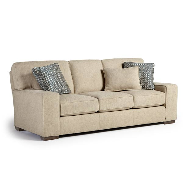 MILLPORT COLL. STATIONARY SOFA-Distressed Pecan STATIONARY SOFA