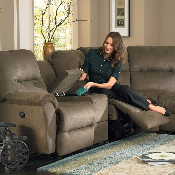 Model: BODIE SECT. RECLINING SOFA | Best Home Furnishings BODIE SECT. RECLINING SOFA
