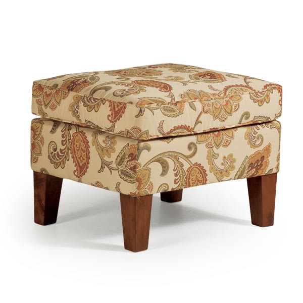 Model: 0007E-Distressed Pecan | Ottoman