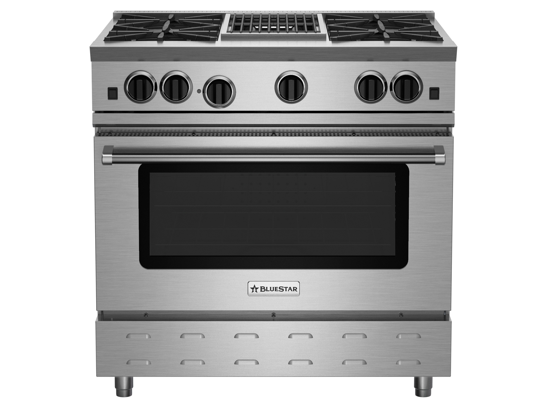 "BlueStar 36"" RNB SERIES RANGE WITH 12"" CHARBROILER"