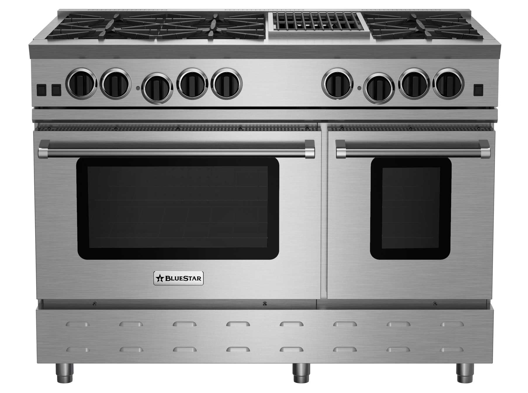 "BlueStar 48"" RNB SERIES RANGE WITH 12"" CHARBROILER"