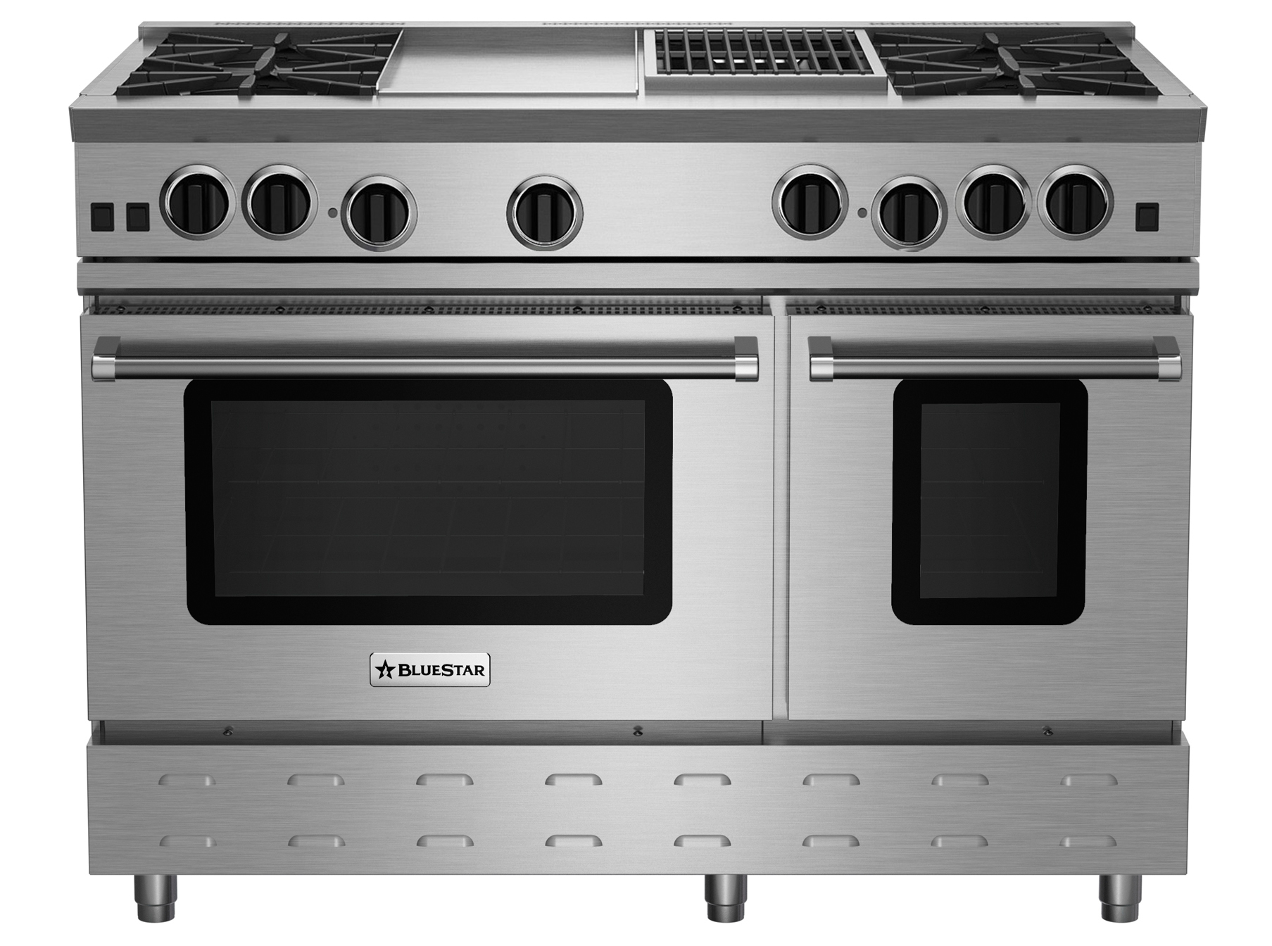 "BlueStar 48"" RNB SERIES RANGE WITH 12"" GRIDDLE & CHARBROILER"