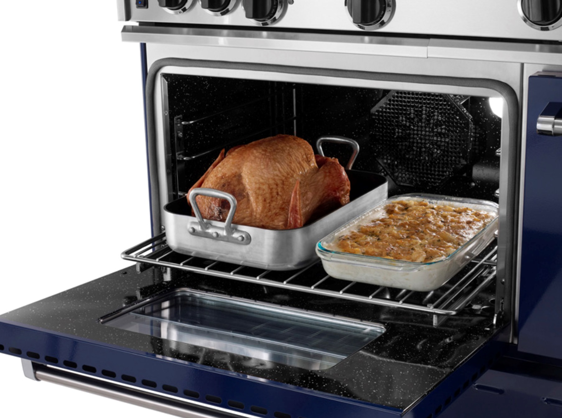 "Model: RNB484GCBV2 | BlueStar 48"" RNB SERIES RANGE WITH 12"" GRIDDLE & CHARBROILER"