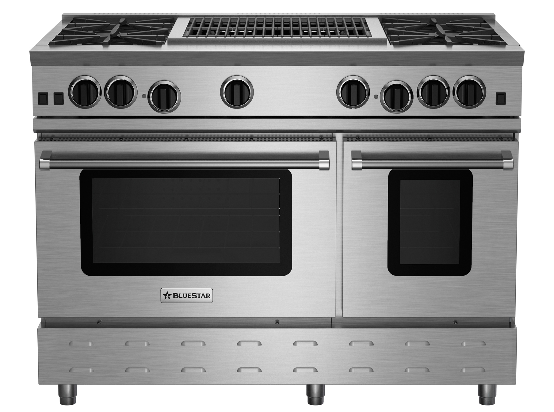 "BlueStar 48"" RNB SERIES RANGE WITH 24"" CHARBROILER"