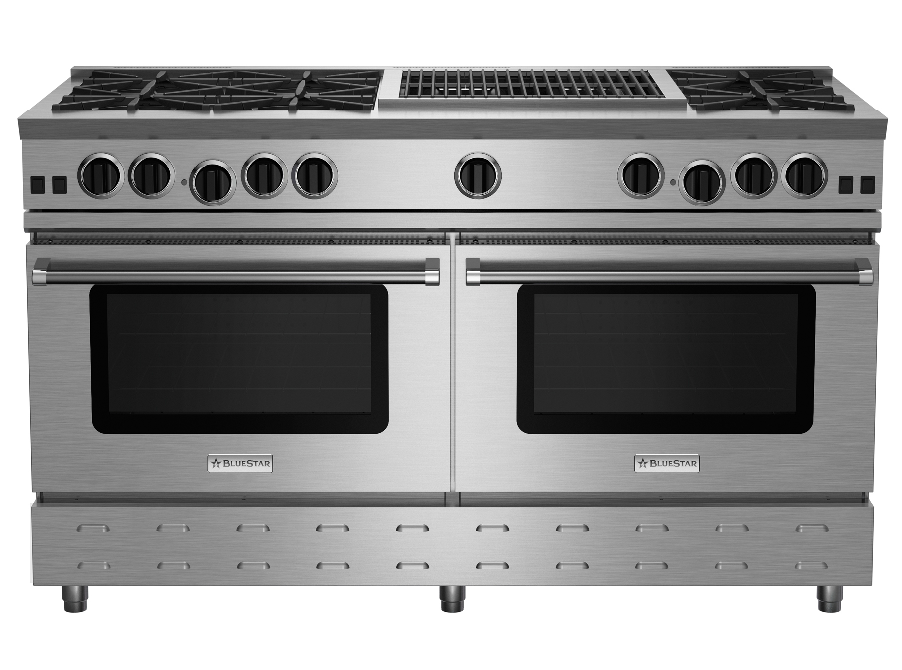 "Model: RNB606CBV2 | BlueStar 60"" RNB SERIES RANGE WITH 24"" CHARBROILER"
