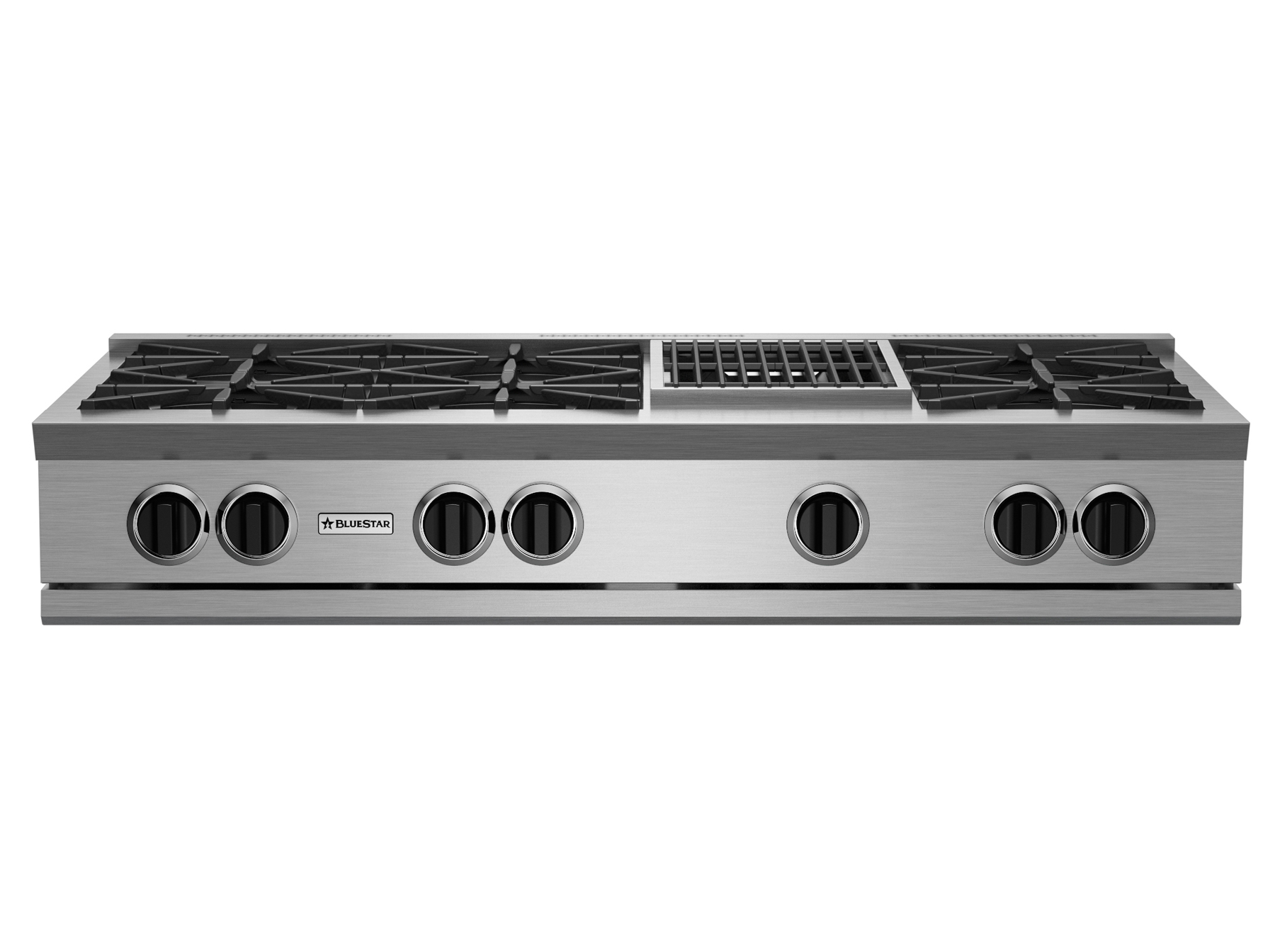 Model: RGTNB486CBV2 | BlueStar 48? RNB RANGETOP WITH 12? CHARBROILER