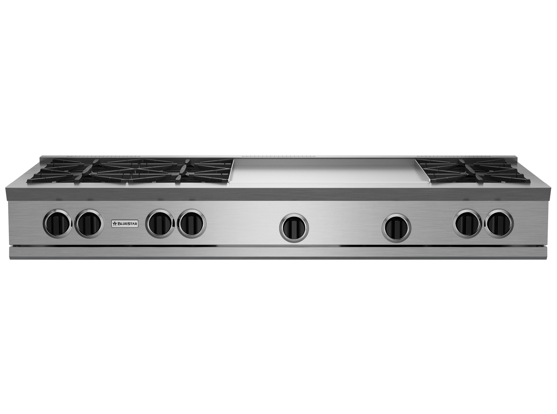 "Model: RGTNB606GV2 | BlueStar 60"" RNB RANGETOP WITH 24"" GRIDDLE"