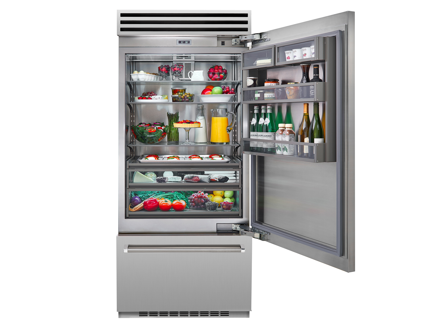 "Model: BBB36L2 | BlueStar 36"" BUILT-IN REFRIGERATOR- Left Hinge"