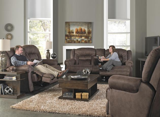 Atlas Power Reclining Console Loveseat w/Stor & Cuphol