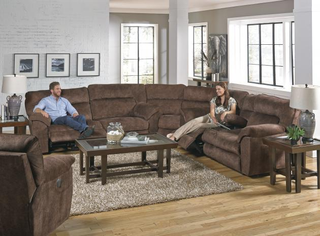 Nichols Pwr Lay Flat Reclining Console Loveseat w/Strg & Cupholders