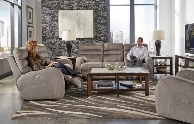 Kelsey Power Headrest w/Lumbar power Lay Flat Reclining Sofa